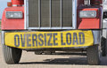 Oversize load Stock Photography