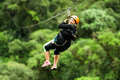 Oversized Woman On Zip Line Close Up Royalty Free Stock Photo