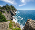 Overview of the coast of Portofino Royalty Free Stock Photo