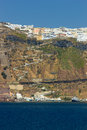 Overview on fira in santorini greece Stock Images