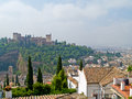 Overview of Granada and Algambra Stock Images