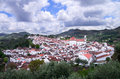 Overview of historic castelo de vide the part town alentejo portugal Royalty Free Stock Images