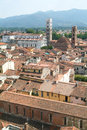 Overview at the old part of lucca on italy Stock Image