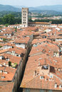 Overview at the old part of lucca on italy Royalty Free Stock Photo