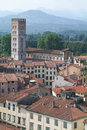 Overview at the old part of lucca on italy Royalty Free Stock Photography