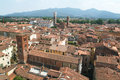 Overview at the old part of lucca on italy Stock Images