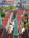 Overview of old town, Gdansk, Poland Stock Photography