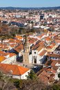 Overview old town tomar portugal vertical shot Stock Photo