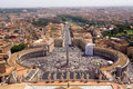 Overview of Piazza of San Pietro Royalty Free Stock Photo