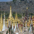 Overview shwe inn thein paya temple complex ithein also indein near inle lake shan state central myanmar burma Stock Photos