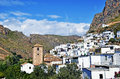 Overview of small Moorish village in La Alpujarra Stock Image
