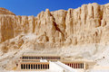 Overview Temple of Queen Hatshepsut at Luxor . Royalty Free Stock Photos