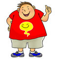 Overweight boy Stock Photo