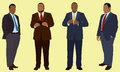 Overweight businessmen black or african american business men who are fat or or heavy set they are wearing suit and tie Royalty Free Stock Image