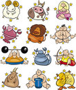 Overweight zodiac signs Stock Photography