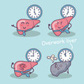 Overwork liver great for health care concept Stock Photography