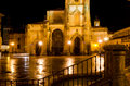 Oviedo cathedral detail of the of spain at night Stock Photography