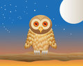 Owl against night sky Stock Photos