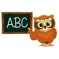 Owl as a teacher Royalty Free Stock Photo