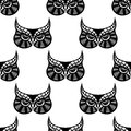 Owl bird seamless pattern for any scary or halloween design Royalty Free Stock Photo