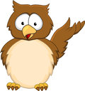 Owl cartoon Stock Photos
