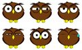 Owl cartoon expressions set in vector format very easy to edit Royalty Free Stock Photos