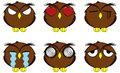 Owl cartoon expressions set in vector format very easy to edit Royalty Free Stock Images