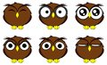 Owl cartoon expressions set in vector format very easy to edit Royalty Free Stock Image