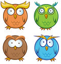 Owl cartoon set Royalty Free Stock Photo