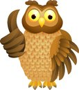 Owl cartoon with thumb up Stock Photography