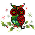 Owl charm colorido Fotos de Stock Royalty Free
