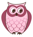 Owl cute cartoon illustration on white background Stock Images