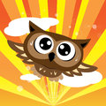 Owl flying quickly Royalty Free Stock Photos