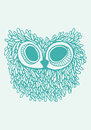 Owl illustration Stock Afbeelding