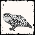 Owl illustration black and white Stock Images