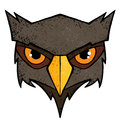 Owl illustration cartoon with color and texture Stock Image