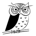 Owl illustration of an night Royalty Free Stock Image