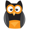 Owl illustration owls with large intelligent eyes on white background Stock Photography