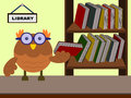 Owl the librarian Royalty Free Stock Photo