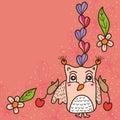 Owl love cute mouse card