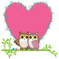 Owl love pair card