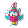 Owl with party hat