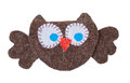 Owl from pieces of fabric Royalty Free Stock Images