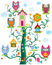 Owl`s tree Royalty Free Stock Photo
