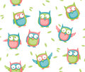 Owl seamless Royalty Free Stock Photography