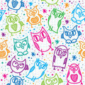 Owl seamless pattern Royalty Free Stock Images