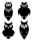 Owl set Royalty Free Stock Photo