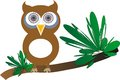 Owl sitting on a branch Royalty Free Stock Photography
