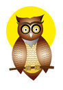 Owls cartoon on white background Stock Images