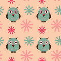 Owls seamless pattern Royalty Free Stock Image